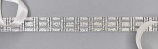 Clear/Silver Marquise Shape Small Round Stone Belt