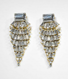 Clear/Gold Layers Shape Earring