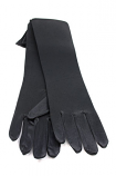 "Satin Gloves 12"" Black"