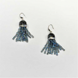 Sapphire Aurora Borealis/Fashion Multiple Rows Fish Hook Earrings