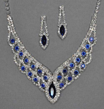 Clear/Sapphire Marquite/Round Shape Set