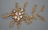 Light Peach/Ivory Pearl Flower Branch Comb
