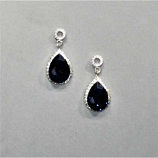 Montana Navy/Clear Silver Top Round Bottom Teardrop Post Earring