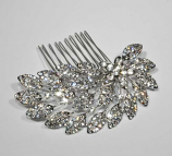 Clear/Silver Flower Shape Combs