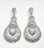 Clear/Silver Small Round Stone Post Earring